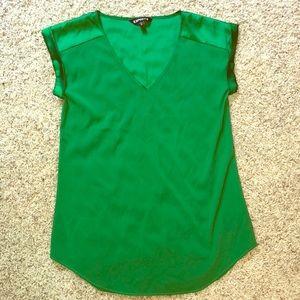 Emerald green Express blouse size XS